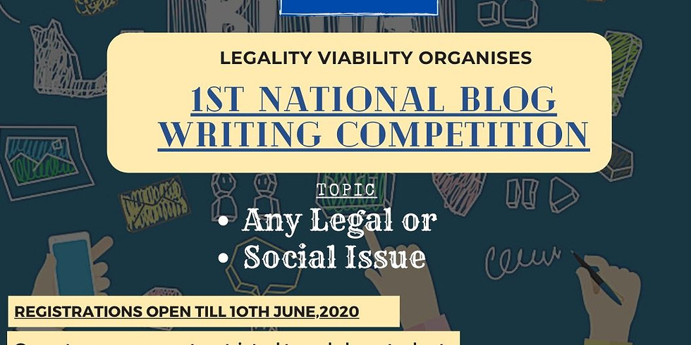 1st National Blog Writing Competition By Legality Viability