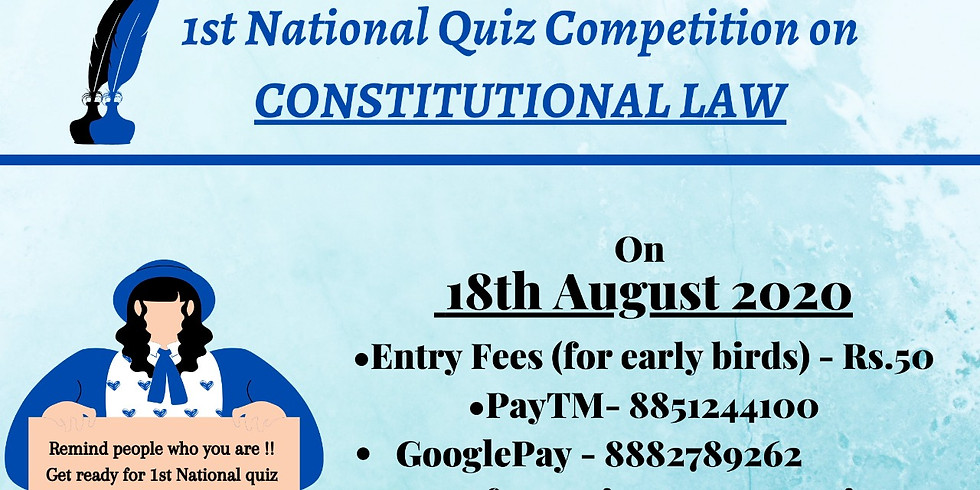 1st National Quiz Competition