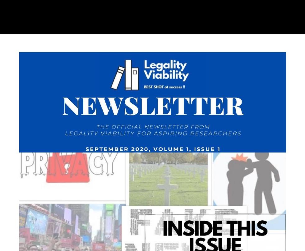 NEWSLETTER- LEGALITY VIABILITY