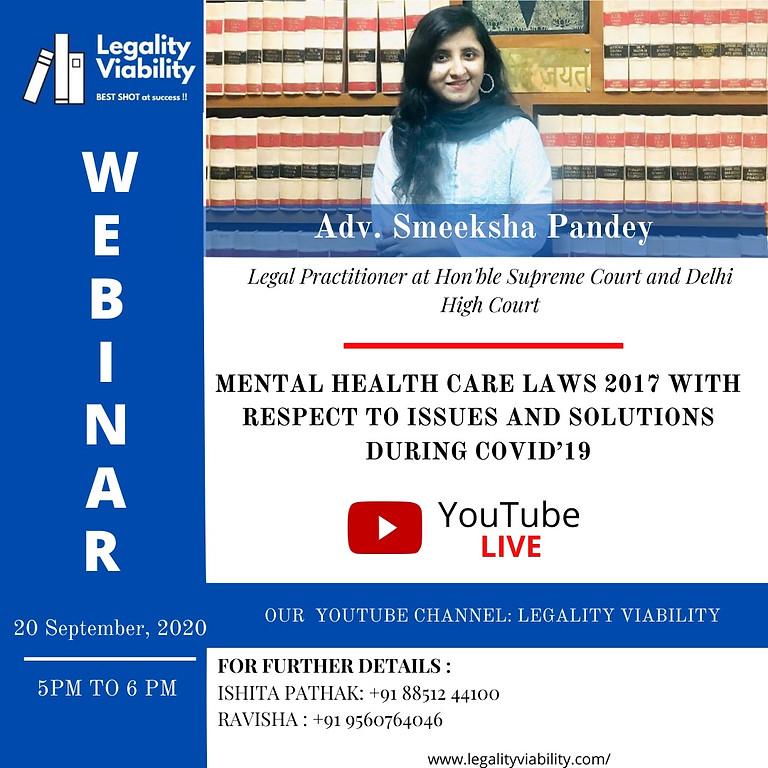 WEBINAR ON MENTAL HEALTH CARE LAWS 2017