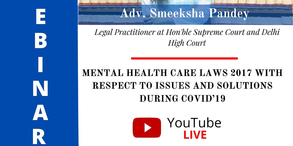 WEBINAR ON MENTAL HEALTH CARE LAWS 2017