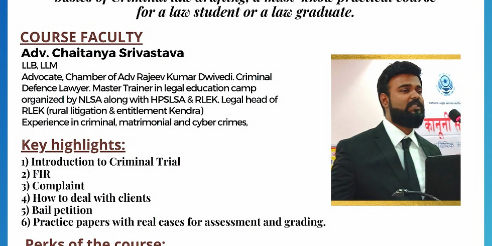 Certificate course on Criminal Laws