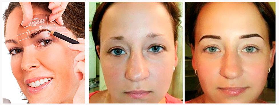 Augenbrauenkorrektur rottweil Schablone