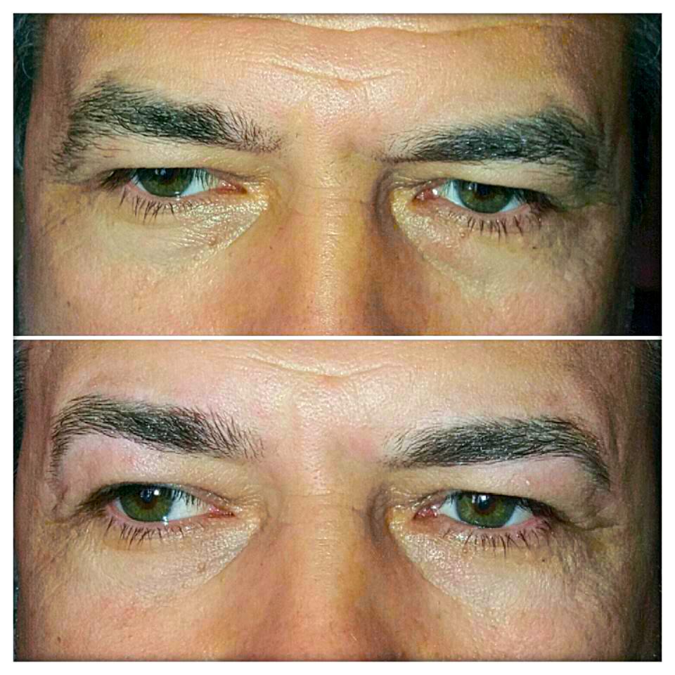 Augenbrauenkorrektur, zupfen, färben