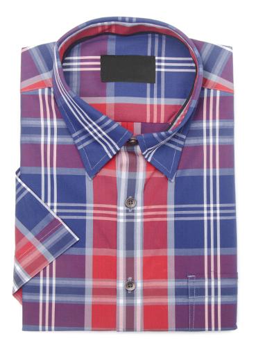 Red white and blue plaid shirt