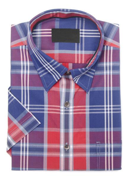 Rot, weiß und blau kariertes Hemd