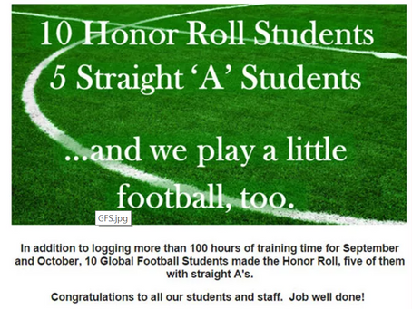 10 Honor Roll and 5 Straight 'A' Students
