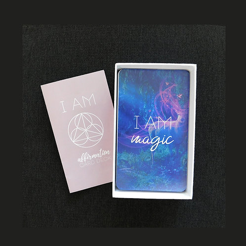 """I AM"" Affirmation Card Deck (Shipping included, see below for details)"