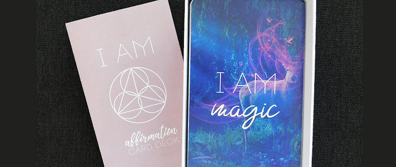 """""""I AM"""" Affirmation Card Deck (Shipping included, see below for details)"""