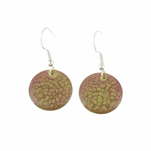 Painted Copper Earrings