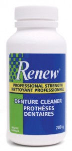 stoke dental lab, new dentures, renew denture cleaner