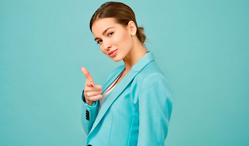 Canva - Woman Wearing Blue Shawl Lapel S