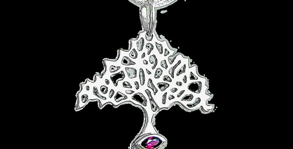 ELEWA® SIGNATURE PENDANT TREE OF LIFE W/GARNET