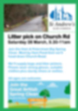 Litter Pick poster March 2020 Church Rd.