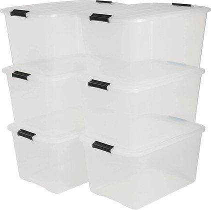 Lot de 6 boîtes de rangement Top Box45L plastique empilables