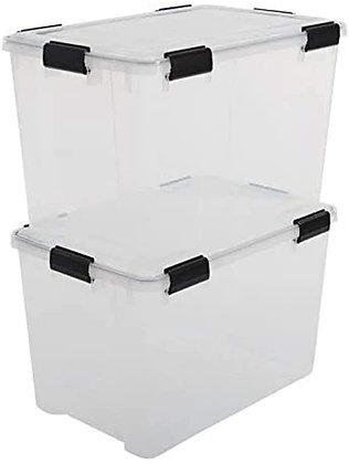 Lot de 2 boîtes de rangement AT-LD hermétique 70 litres