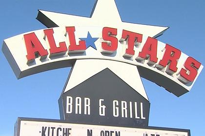 All Stars Restaurant outdoor signage