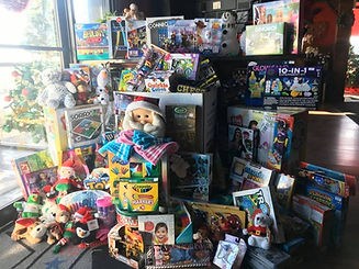 Toy Drive. Large pile of various toys.