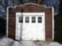 garage, vieux, bois, blanc, boucherville, cour, atelier