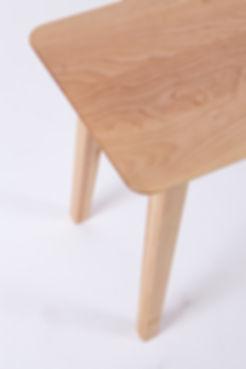 Paulin, détail, design, bois, merisier, banc, danois, danish