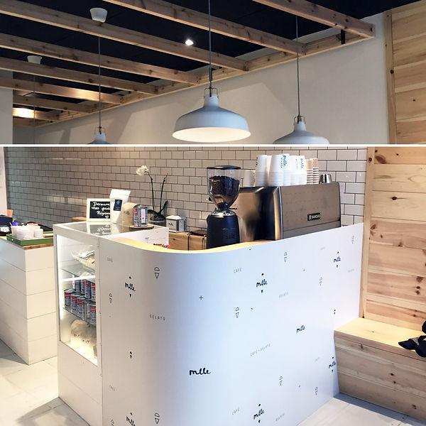 café, boutique, gelato, vieux-ports, montréal, mlle, catherine, design, comptoir