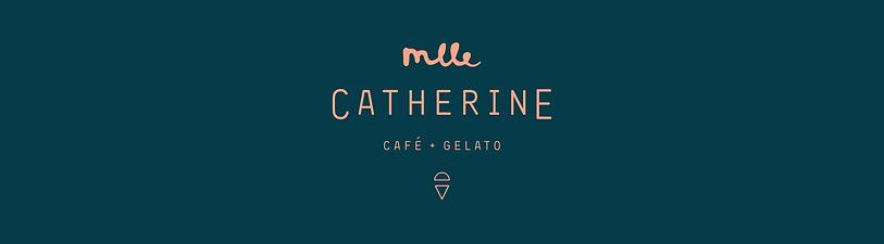 café, boutique, gelato, vieux-ports, montréal, mlle, catherine, design, comptoir, logo, 26lettres