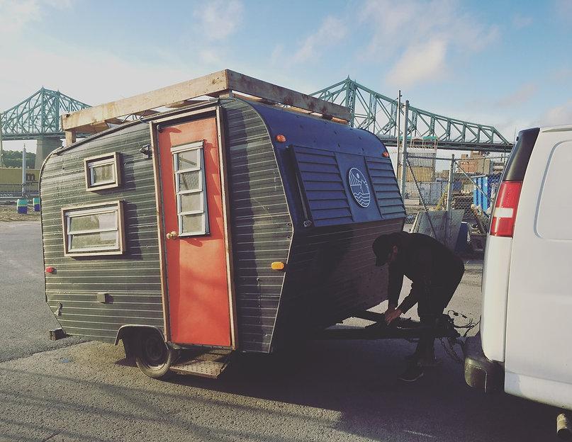 Roulotte mobile La Pépinière Village au Pieds-du-courant,de l'édition 2016 à Montréal par FÉLIX & Co.