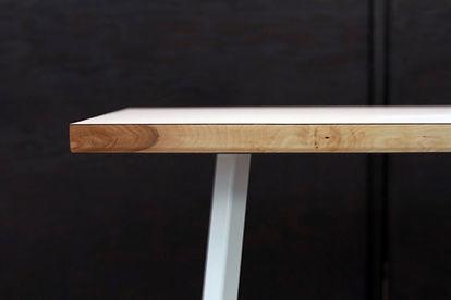 table, danoise, danish, bois, acier, stratifié, merisier, design, banc, pauline, paulin