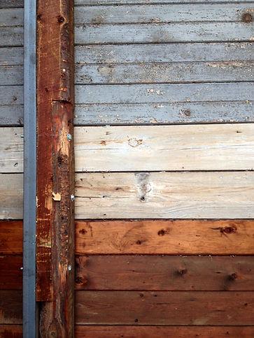 vieux, bois, belle couleur, gris, orangé, bleu-gris, acier, poutre, plafond, beau