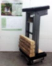 micro chalet, bois rond, préfabrication, DIY, construction, système, low tech, bois, forêt, outils