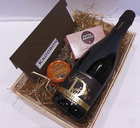champagne noir en vis + cadeaubon 50 €