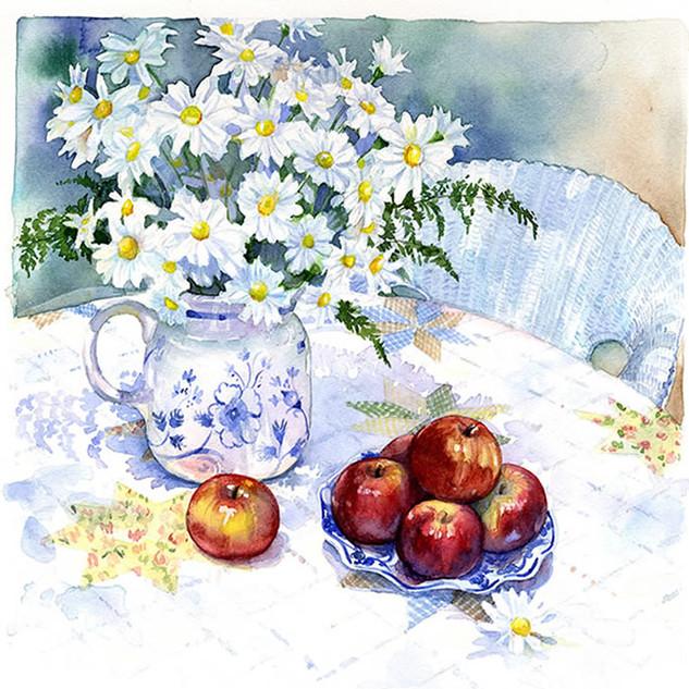 """Daisies and Apples""  © Jody Wheeler"
