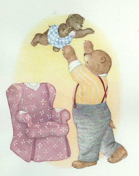 """""""Baby Bear and Papa Bear"""" © Jody Wheeler"""