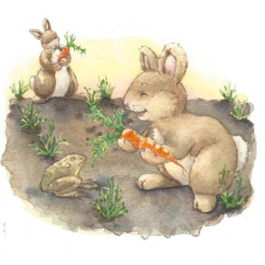 """Bunnies and Carrots""  © Jody Wheeler"