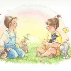 """""""Children and Animals""""  © Jody Wheeler"""