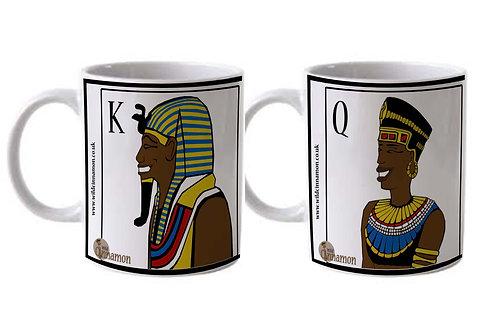King & Queen (Colour) Mug Set