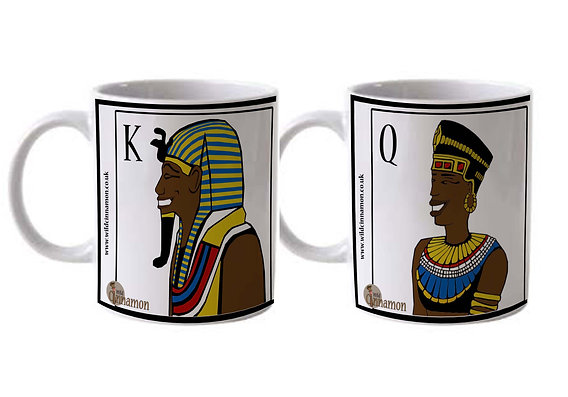King & Queen (Colour) Mug Set