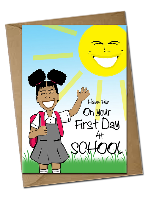 First Day Of School Girl