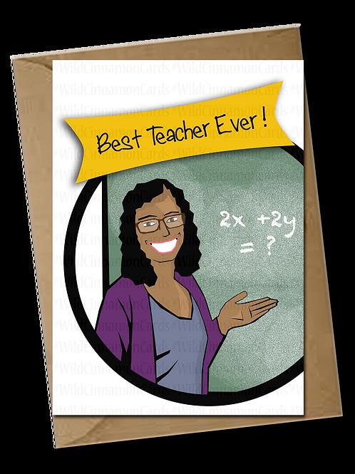 (Female) Best Teacher Ever