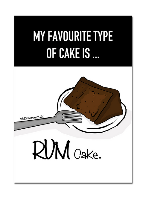 A3 PRINT - Rum Cake