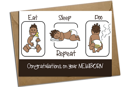 Eat sleep poo repeat baby
