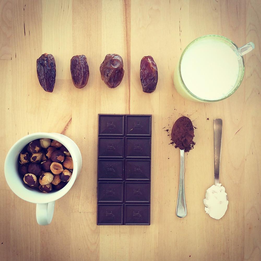 חומרים לממרח שוקולד.JPG
