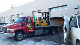 Forklift Equipment Towing Calgary