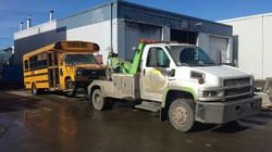 Towing Calgary School Bus
