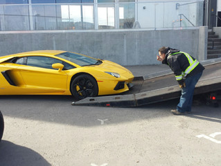 Towing a Lamborghini Aventador