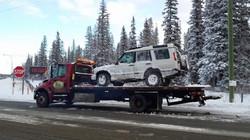 Towing Kananaskis Jeep Cherokee