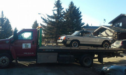 Towing in city of Calgary 1978 MGB