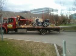 Harley Motorcycle Towing Calgary