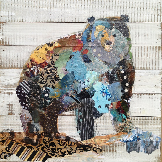 bear art on wood