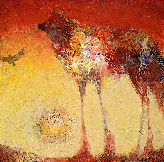 Wolf and Bird Painting
